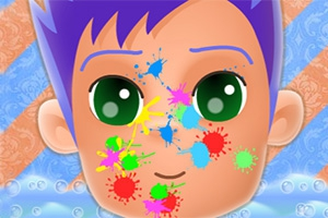 Sparkling Face Washing