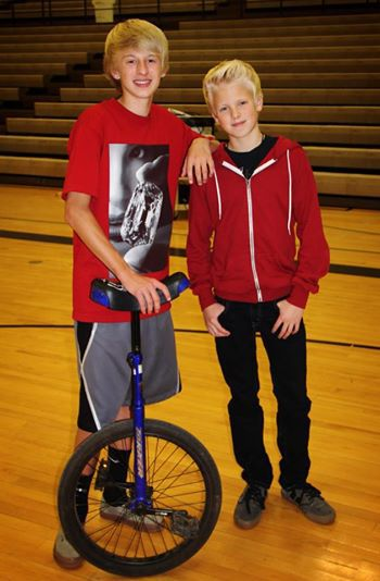 Props to my bro Jackson for putting on a rad unicycle show at the Homecoming Royalty talent competition.