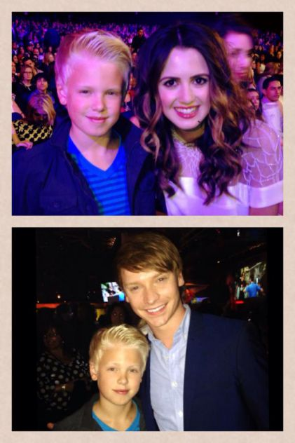 Who else loves Disney Channel Austin and Ally ?!?! Met awesome actors Laura Marano and Calum Worthy at the Radio Disney Music Awards!!!