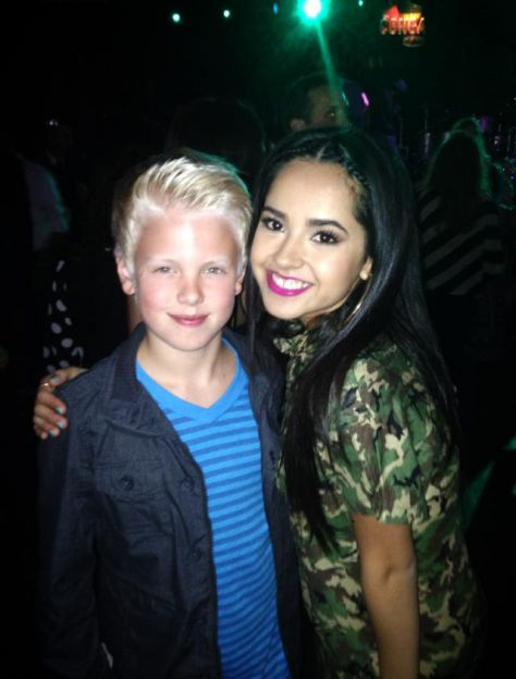 Who's watching the awesomely talented Becky G perform on Radio Disney tonight?! Great meeting her at the After Party last night