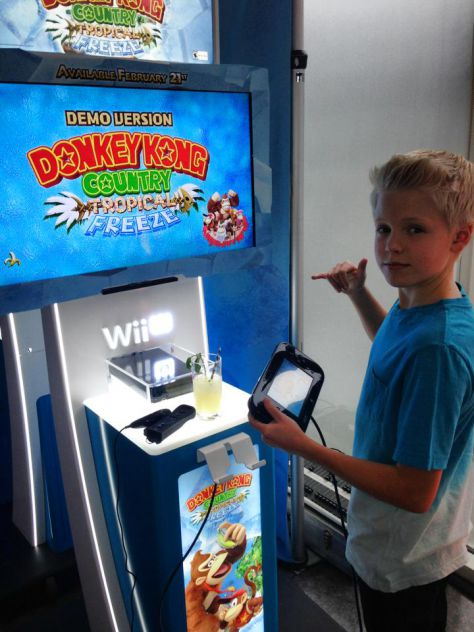 Trying out this rad new Nintendo video game Donkey Kong Country Tropical Freeze available in stores Feb. 21