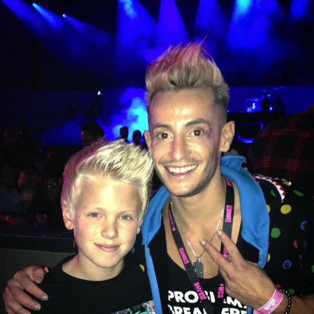 Awesome meeting Frankie J. Grande from Big Brother at the Hollywood Bowl concert last night! Frankie's sister Ariana Grande's performance was amazing!!!