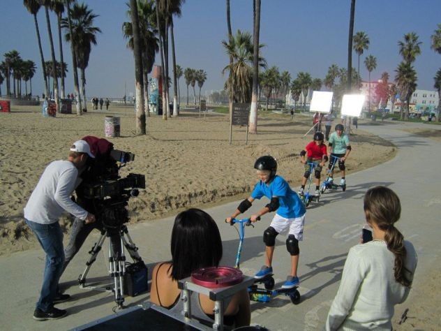 TRIKKE E2 Razor Scooter commercial flimed at Venice Beach, California