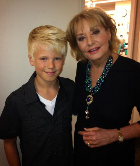 With the legendary Barbara Walters by her dressing room after ABCs The View show with Keith Urban. She told me I was the next Justin Bieber!!