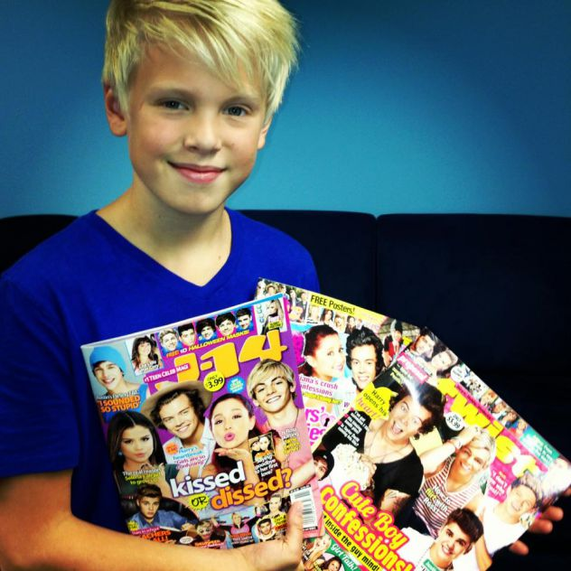 Visit at J14 Magazine in New Jersey. Great interview and fun time playing for them!!!