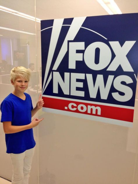 At Fox News station in New York City.