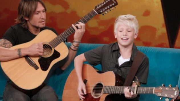 On ABC The View show playing with my music hero Keith Urban. (link attached) Keith inspired me to play guitar at age 4 This was a shocking surprise! They told me I was just a guest in the audience. Honor to be the first to get a guitar from his new Urban guitar line. A timely blessing the same week I release my 1st single.