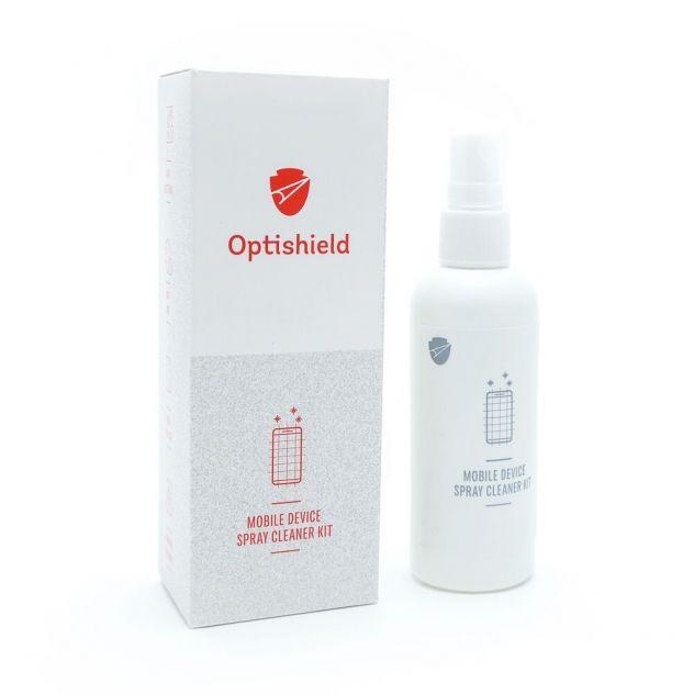 Čistilo v spreju in krpica iz mikrovlaken za čiščenje zaslonov 2v1 Optishield 5€