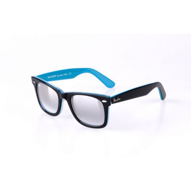 blue and black ray-ban