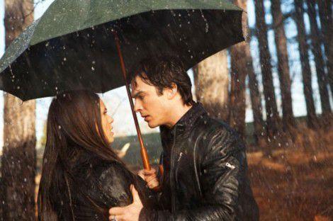 Elena Gilbert in Damon Salvatore