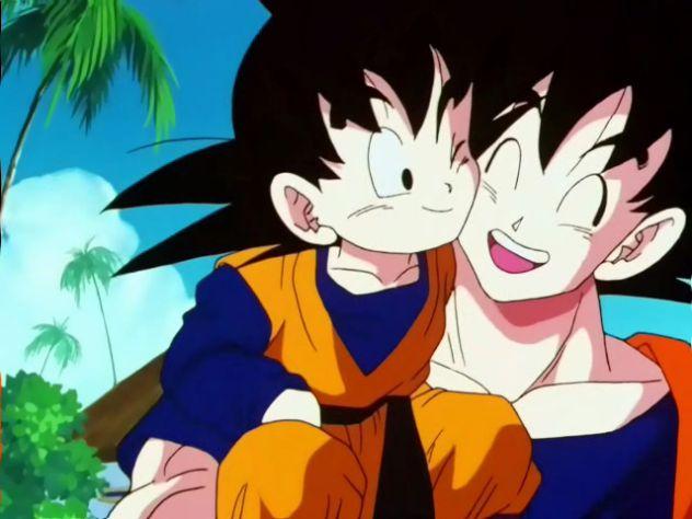 Goku prvič sreča svojga sina :')