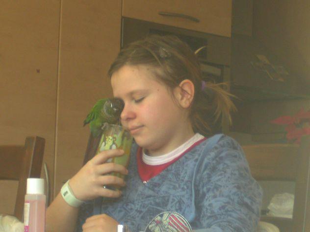 jaz in moja papiga čopi