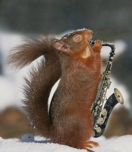 igranje saksofona