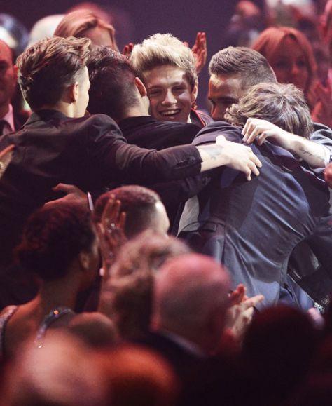 group hug! BRIT AWARDS 2013