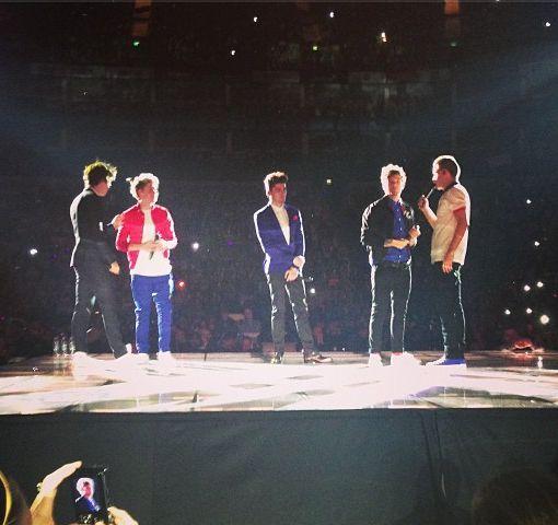 take me home tour #5 fantje gredo po zraku do konca arene tako, da jih lahko vsi vidijo