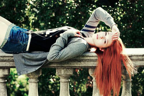 ..red hair this is prfect..=)