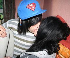 me and my boi kiss