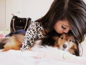girl-dog