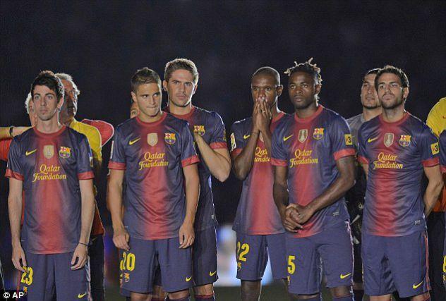 nekaj igravcev barcelone