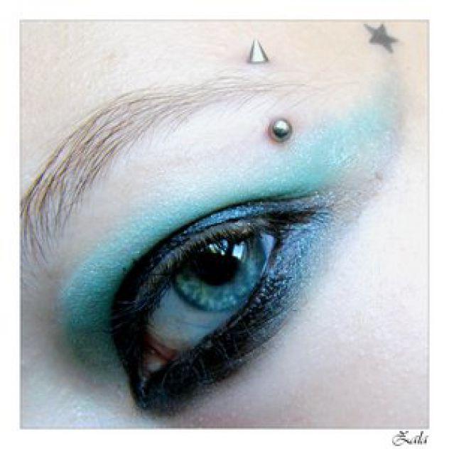 Blue, piercing, star ... arrrr love it.  x3