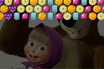puzzle igre Masha and the Bear: Candy Shooter