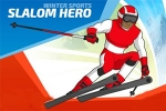 mobilne igre Winter Sports: Slalom Hero